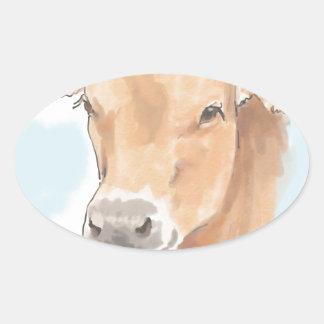 Vaca das karmas adesivo oval