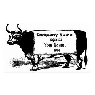Vaca de carne do rancheiro do gado do vintage cartão de visita