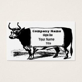 Vaca de carne do rancheiro do gado do vintage cartão de visitas