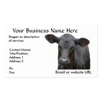 Vaca de carne preta de Angus Cartão De Visita