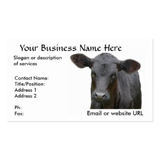 Vaca de carne preta de Angus Modelo Cartão De Visita