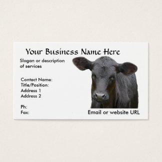 Vaca de carne preta de Angus Cartão De Visitas