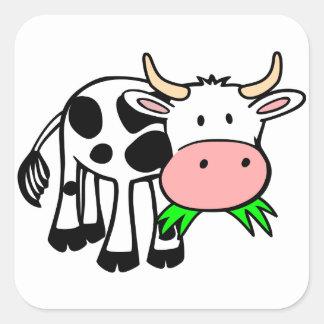 Vaca de Holstein Adesivos Quadrados