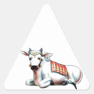 Vaca do amor adesivo triangular