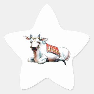 Vaca do amor adesivo em forma de estrela