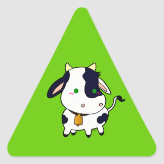 Vaca do bebê adesivo triangular