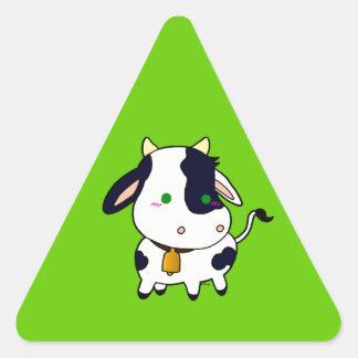 Vaca do bebê adesivos em forma de triângulo