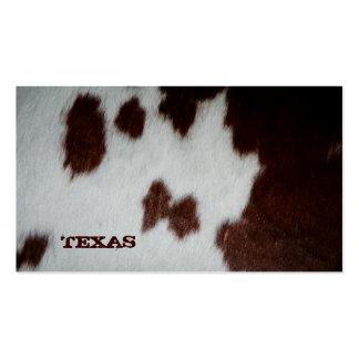 Vaca do cartão de visita da pele de Texas