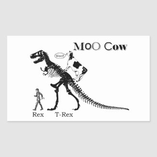 Vaca do MOO Adesivo Retangular