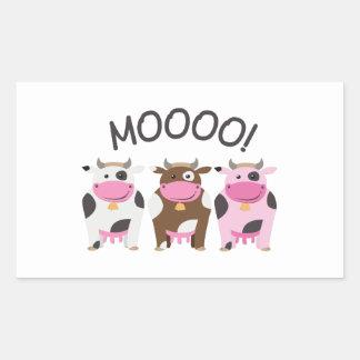 Vaca do MOO Adesivos Retangular