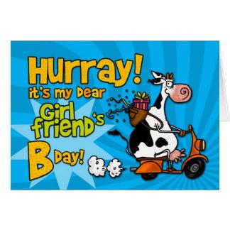 vaca do patinete do BD - namorada Cartão Comemorativo