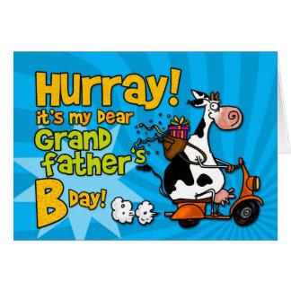 vaca do patinete do BD - pai grande Cartão Comemorativo