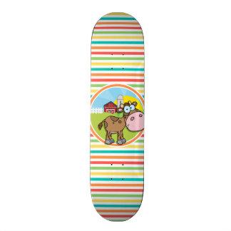 Vaca dos desenhos animados; Listras brilhantes do Skate Personalizado