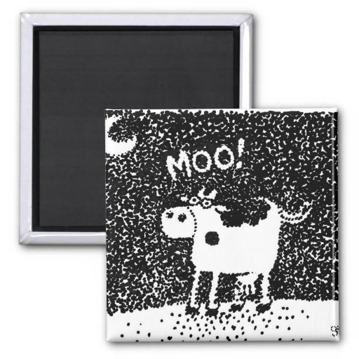 Vaca Dotty Ímã Quadrado