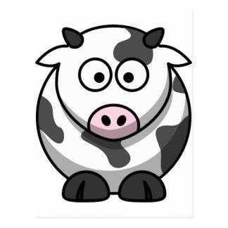 Vaca engraçada bonito cartão postal
