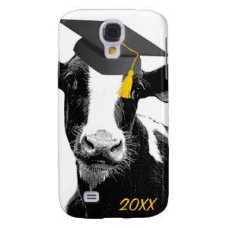 Vaca engraçada da graduação dos parabéns no boné capas samsung galaxy s4