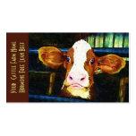 Vaca engraçada da vitela do rancho de gado modelo de cartões de visita