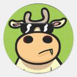 Vaca legal adesivo em formato redondo