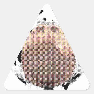 vaca legal adesivo triangular