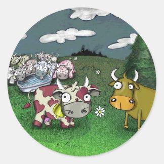 Vaca no amor adesivo