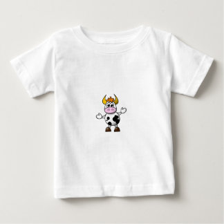 Vaca preto e branco tirada Bull dos desenhos T-shirts