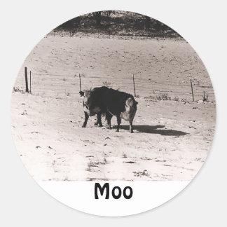 vacas adesivos redondos
