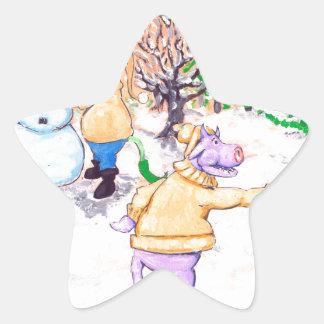 Vacas da neve adesito estrela