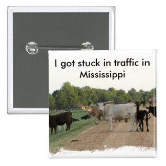Vacas do dique de Mississippi Bóton Quadrado 5.08cm