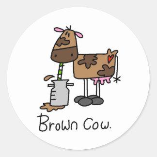 Vacas engraçadas adesivos redondos