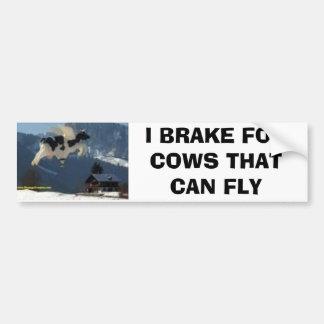 vacas, EU TRAVO PARA AS VACAS QUE PODEM VOAR Adesivo Para Carro