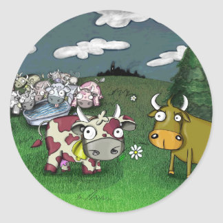 Vacas no amor adesivo