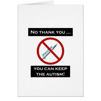 Vacina Cartão Comemorativo