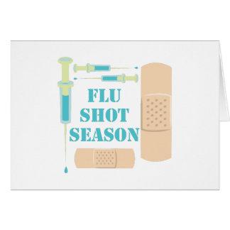 Vacina contra a gripe cartão comemorativo