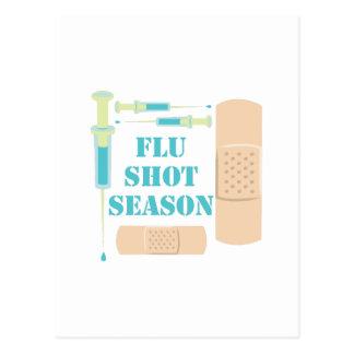 Vacina contra a gripe cartão postal