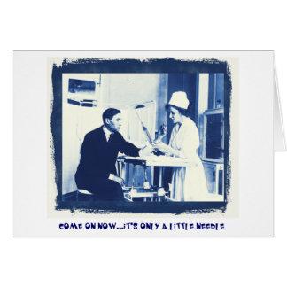 Vacinas contra a gripe cartão comemorativo