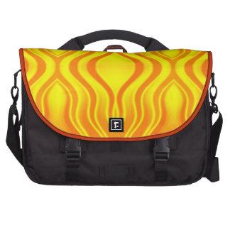Vaga de calor alaranjadas e amarelas maleta para notebook