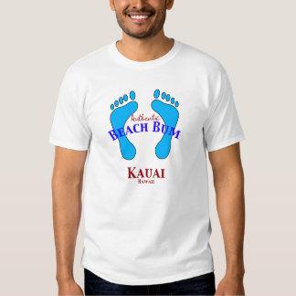 Vagabundo autêntico Kauai Havaí da praia Tshirts