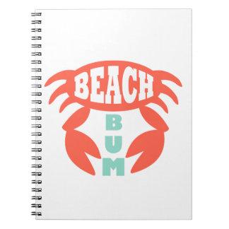 Vagabundo da praia cadernos