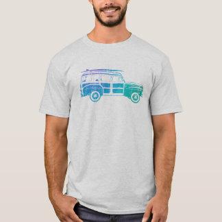Vagão arborizado do surf do vintage camiseta
