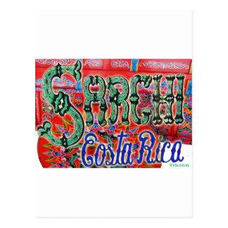 Vagão de Sarchi Costa Rica Cartão Postal