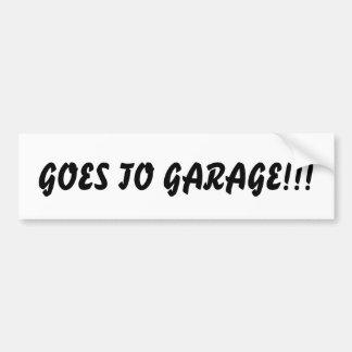 Vai à garagem!!! Autocolante no vidro traseiro Adesivo Para Carro