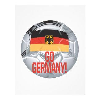 Vai Alemanha Modelo De Panfleto