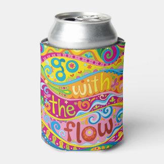 Vai com o fluxo pode o refrigerador - arte porta-lata
