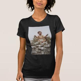 Vai Getta (na parte traseira do impressão branco T-shirts