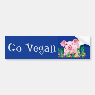 Vai o autocolante no vidro traseiro do Vegan Adesivo Para Carro