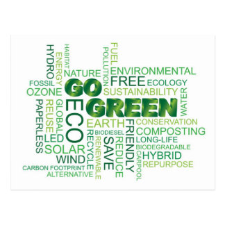 Vai o cartão verde da nuvem da palavra