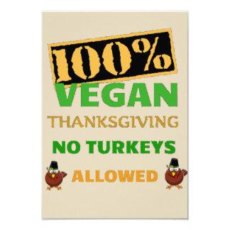 Vai o convite da acção de graças do Vegan