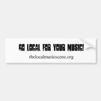 Vai o local para sua música! , thelocalmusicscene. adesivos