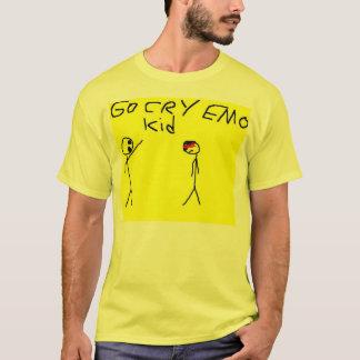 vai o miúdo do emo do grito camiseta