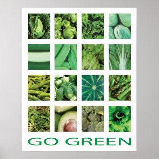Vai o poster verde da arte da cozinha dos vegetais